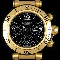 Cartier Pasha Seatimer Yellow gold 42mm Black Arabic numerals