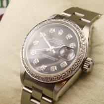 Rolex Oyster Perpetual Lady Date Acél 26mm Fekete