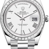 Rolex Day-Date 40 Platinum 40mm White United States of America, New York, Airmont