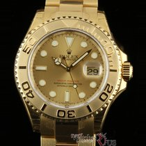 Rolex Yellow gold Automatic Champagne 40mm new Yacht-Master 40
