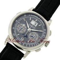 A. Lange & Söhne White gold Manual winding Grey Roman numerals 41mm pre-owned Datograph