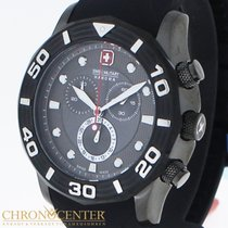 Swiss Military Chronograph 44mm Quartz 2016 new Black