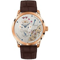 Glashütte Original PanoInverse XL Rose gold 42mm Silver Arabic numerals United States of America, Pennsylvania, Holland
