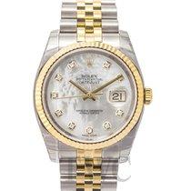 Rolex Datejust Oro amarillo 36.00mm Blanco