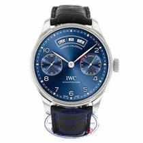IWC Portuguese Annual Calendar Blue Dial Stainless Steel
