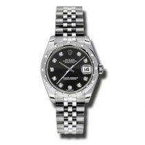 Rolex Lady-Datejust nuevo Reloj con estuche y documentos originales 178344 BKDJ
