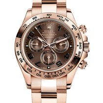 Rolex Rose gold Automatic Black No numerals 40mm new Daytona