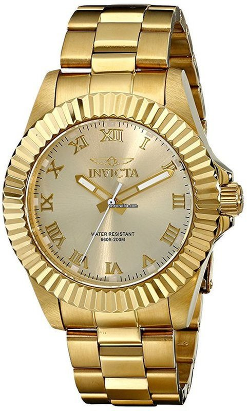 Invicta Champagne Diver Watch Men's 16739 Pro Dial 2IW9EDH