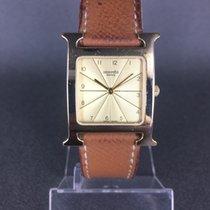 Hermès Κίτρινο χρυσό Χαλαζίας HH1.501 μεταχειρισμένο