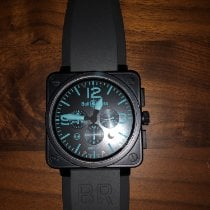 Bell & Ross BR 01-94 Chronographe Steel 46mm Black Arabic numerals