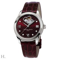 Frederique Constant Ladies Automatic Double Heart Beat Staal 36mm Rood