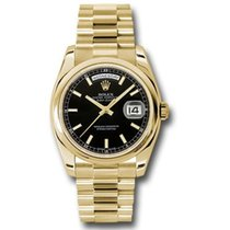 Rolex Yellow gold Automatic Black 36mm new Day-Date 36