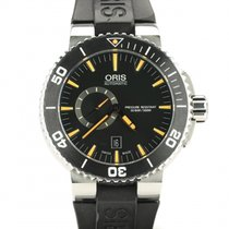 Oris 01 743 7733 4159-07 4 24 64EB Steel 2015 Aquis Small Second pre-owned