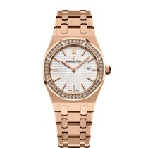 Audemars Piguet Royal Oak Lady pre-owned 33mm White Date Rose gold