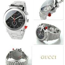Gucci G-Chrono Stal 49.5mm Czarny