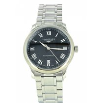 Longines Steel Automatic Black Roman numerals 38.5mm new Master Collection