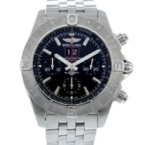 Breitling Steel Automatic Black 44mm pre-owned Blackbird