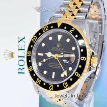 Rolex GMT-Master II Золото/Cталь 40mm Чёрный
