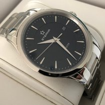Eterna Artena Steel 40mm Black No numerals
