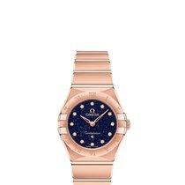 Omega Rose gold Quartz Blue 25mm new Constellation Quartz
