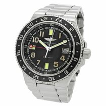 Breitling Superocean GMT Steel 41mm Arabic numerals United States of America, New York, New York