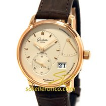 Glashütte Original Red gold Automatic Silver No numerals 40mm new PanoReserve