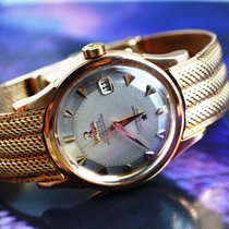 Omega Constellation Oro rosa 34mm Plata Sin cifras