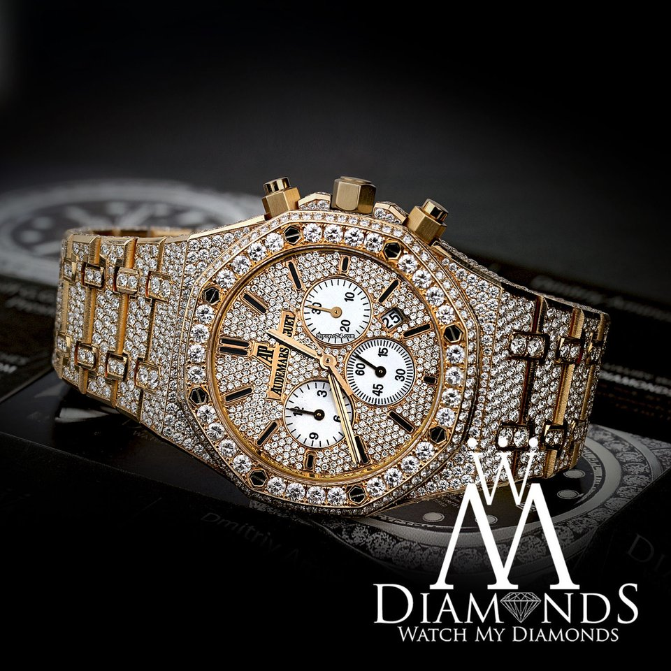 Audemars Piguet Diamond Covered Royal Oak Chronograph 41mm 26320or Oo 1220or 01