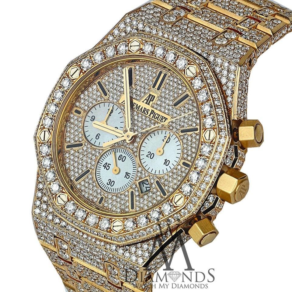 Audemars Piguet Diamond Covered Royal Oak Chronograph 41mm... for ... fa4b386ec