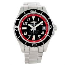 Breitling Superocean 42 Abyss Black Red Automatic Mens Watch...