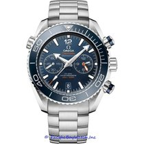 Omega Seamaster Planet Ocean Chronograph Steel 46mm Blue Arabic numerals