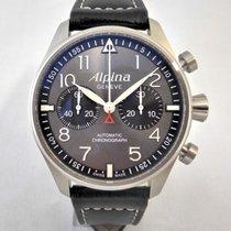 Alpina Startimer Pilot Automatic Steel 44mm Grey Arabic numerals