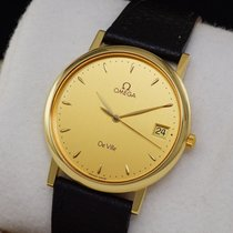 Omega De Ville Gold Watch 18K Quartz + BOX