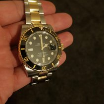 Rolex Submariner Date 116613LN Very good Gold/Steel Automatic