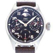 IWC Big Pilot pre-owned 46mm Brown Perpetual calendar Leather