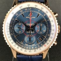 Breitling Montbrillant 01 Red gold 40mm Blue No numerals