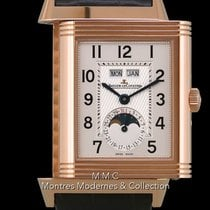 Jaeger-LeCoultre Grande Reverso Calendar pre-owned 29.5mm Moon phase Date Weekday Month Leather