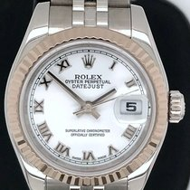 Rolex Lady-Datejust Steel 26mm White Roman numerals