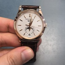 Patek Philippe Annual Calendar Rose gold 38.5mm Silver No numerals