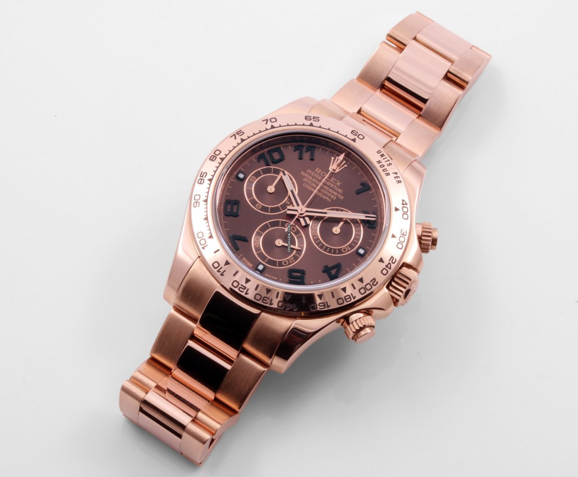 Rolex Daytona Rose Gold Chocolate Dial