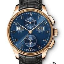 IWC Portugieser Perpetual Calendar Digital Date-Month Rotgold 45mm Blau Arabisch