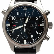 IWC Pilot Double Chronograph Steel 46mm Black Arabic numerals