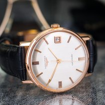 Longines Automatic Date 18k Rose Gold Vintage
