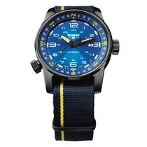 Traser Steel 46mm Automatic P68 Pathfinder Automatic Blue new