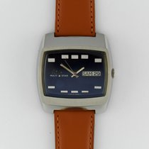 Mido 38mm Automatic 1970 pre-owned Multifort (Submodel) Blue