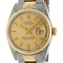 Rolex Datejust Gold/Steel 36mm Gold No numerals