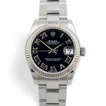 Rolex Lady-Datejust Acél 31mm Fekete Római