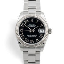 Rolex Lady-Datejust pre-owned 31mm Black Date Steel