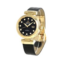 Omega De Ville Ladymatic Yellow gold 34mm Black