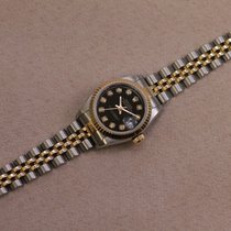 Rolex Lady-Datejust Zlato/Zeljezo 26mm Crn Bez brojeva